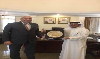 رئيس الجامعة يجتمع بالمستشار الثقافي الكويتي