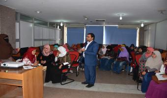 الإنتهاء من الدورات التدريبية على تكنولوجيا المعلومات لطلبة وطالبات كلية التجارة والتربية