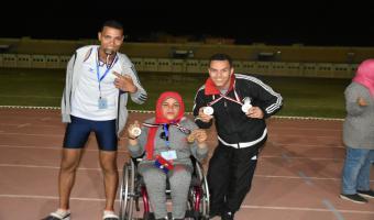 الطالبة حنان ابراهيم السيد تحقق الميدالية الذهبية في ألعاب قوى 400م كراسي متحركة ضمن فعاليات أسبوع شباب الجامعات الأول لمتحدي الإعاقة