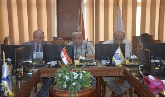 إنعقاد مجلس إدارة مركز ضمان الجودة والتطوير المستمر بجامعة مدينة السادات لبحث جدول أعماله