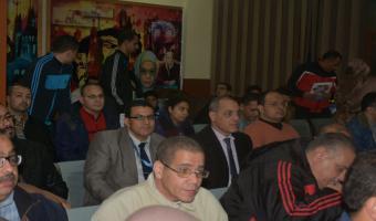 إجراء القرعة الخاصة بمهرجان الأسر السابع بجامعة قناة السويس