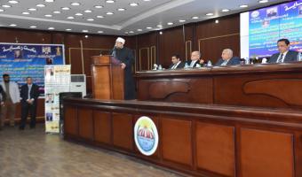 وزير الأوقاف يتحدث عن مكافحة الفساد وإرساء مفاهيم النزاهة في ندوة بالجامعة