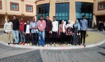 وفد جامعة مدينة السادات يقوم بزيارة ميدانية لمستشفي شفاء الأورمان