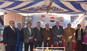 رئيس جامعة مدينة السادات يفتتح المعرض العلمي والفني بكلية التربية