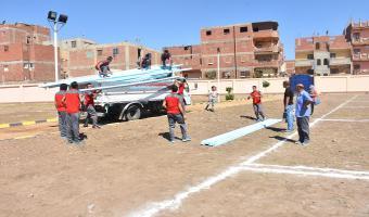 بدء إقامة المخيم الكشفى والإرشادى الخاص بجامعة مدينة السادات
