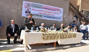 بالصور .. رئيس جامعة مدينة السادات يشهد حفل تخرج دورة التربية العسكرية
