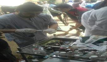 إنطلاق قافلة طبية بيطرية إلى قرية الدبايبة مركز بركة السبع