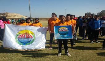 مشاركة جامعة مدينة السادات فى اللقاء الرياضى للمتميزين رياضيآ بمدينة الأقصر