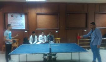 حصول  الطالب  احمد منصور محمد  على المركز الاول فى مسابقة تنس طاولة بنين