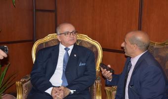 لقاء نائب رئيس الجامعة لشئون خدمة المجتمع مع قناة الدلتا