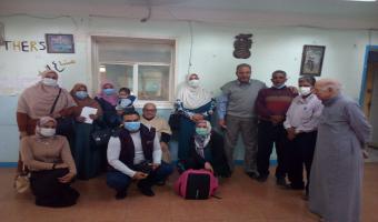 بالصور.. إنطلاق قافلة طبية بشرية لنزلاء دار المسنين بمدينة السادات