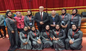جامعة مدينة السادات تشارك في مسابقة الكورال ضمن فعاليات أسبوع فتيات الجامعات المصرية الخامس