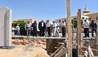 رئيس جامعة مدينة السادات يتابع تطور الإنشاءات بكلية التربية للطفولة المبكرة