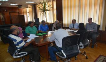اجتماع نائب رئيس الجامعة مع مديرى إدارات رعاية الطلاب بالجامعة وكلياتها