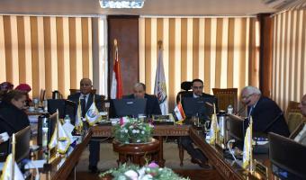 عقد برامج تدريبية للسادة أعضاء هيئة التدريس للجامعات المصرية بجامعة مدينة السادات