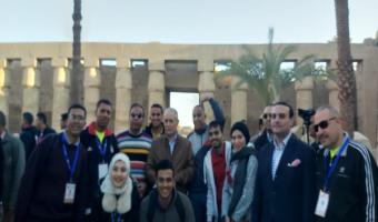 بالصور وفد جوالي وجوالات جامعة مدينة السادات يشارك في فاعليات منتدي الشباب العربي الافريقي