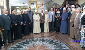 رئيس جامعة مدينة السادات يشهد الجلسة الطارئة لبيت العائلة المصرية بالمنوفية