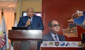 رئيس الجامعة يلقي كلمتة بإفتتاح المؤتمر الدولي الأول