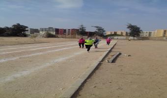 حصول الطالبة هاجر طارق البرم على المركز الأول فى سباق 800 متر على مستوى الجامعة