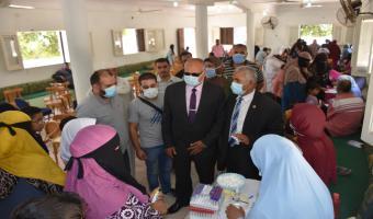 جامعة مدينة السادات تنظم قافلة طبية.. ندوة تثقيفية ضمن مبادرة