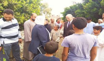 زيارة تفقدية لعزبة سيدي صالح ضمن زيارة لجنة إختيار أفضل جامعة مصرية في تطوير العشوائيات
