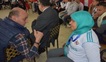 حصول الطالبة حنان السيد إبراهيم على المركز الخامس فى رفع الأثقال بأسبوع متحدى الإعاقة بجامعة المنيا