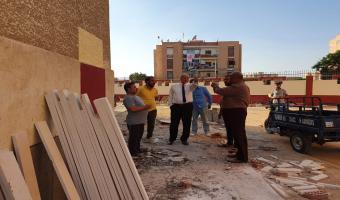 نائب رئيس الجامعة يتفقد أعمال الصيانة بالمدن الجامعية