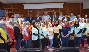 تواصل  أعمال نموذج محاكاة معسكر اعداد القادة والذي يقام لأول مرة بجامعة مدينة السادات