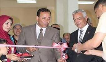 إفتتاح معرض الفنون التشكيلية بأسبوع شباب الجامعات المصرية